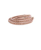 Chan Luu Suraiya Rose Gold Bead Wrap Bracelet