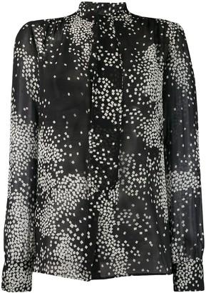 Giambattista Valli Printed Long-Sleeved Blouse