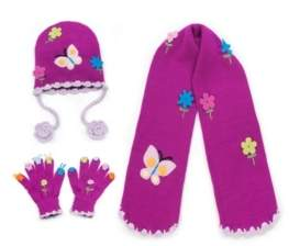 Kidorable Little and Big Girl Butterfly Knitwear Set