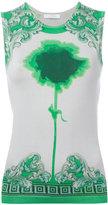 Versace neon print slim-fit tank - women - Silk/Spandex/Elastane - 42