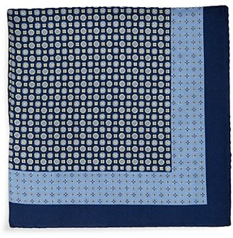 Saks Fifth Avenue Made In Italy Medallion-Print Silk Pocket Square