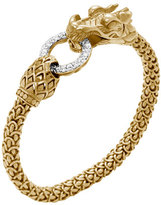 John Hardy Gold Naga Dragon Diamond O-Ring Bracelet