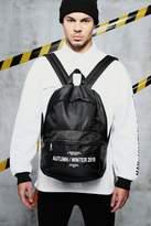 Nylon Front Pocket Rucksack With Print