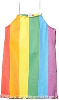 Stella McCartney Rainbow Stripe Denim Dress (Toddler/Little Kids/Big Kids) (Multi) Girl's Clothing