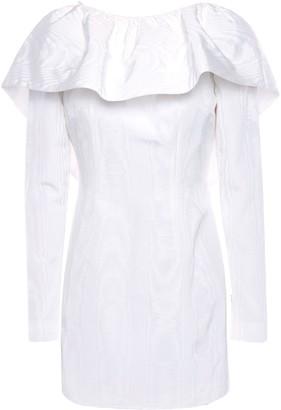 16Arlington Ruffled Cotton-blend Moire Mini Dress