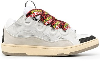 Lanvin Statement-Laces Low-Top Sneakers