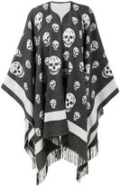 Alexander McQueen big skull cape scarf - women - Cashmere/Wool - One Size