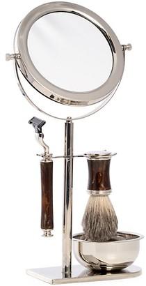 Bey-Berk 3-Piece Mach3 Razor, Badger Brush Double-Sided Mirror Set