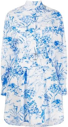 MSGM Jungle Print Shirt Dress