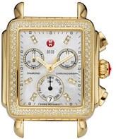 Michele 'Deco Diamond' Diamond Dial Gold Plated Watch Case, 33mm x 35mm