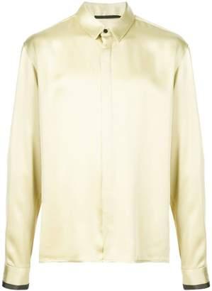 Haider Ackermann yellow contrast cuff shirt
