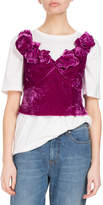 Dries Van Noten Chan Rosette Velvet Cami Top
