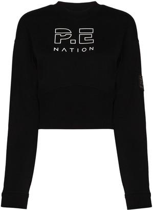 P.E Nation Logo-Embroidered Sweatshirt