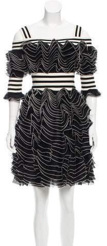 Alexander McQueen Ruffled Off-The-Shoulder Dress w/ Tags