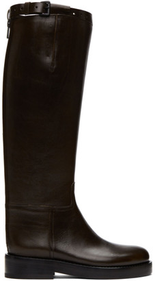 Ann Demeulemeester SSENSE Exclusive Brown Riding Boots