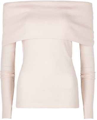 Free People Snowbunny off-the-shoulder ribbed top