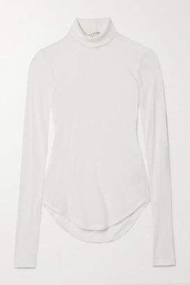 FRANCES DE LOURDES Lucie Slub Cashmere And Silk-blend Turtleneck Sweater - White