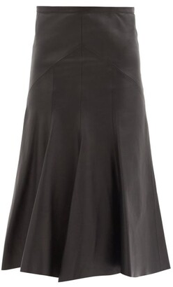 Isabel Marant Bokissa Gored-panel Leather Midi Skirt - Black