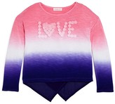Design History Girls' Dip-Dye Love Top