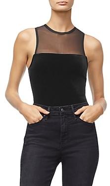 Good American Sleeveless Velvet Bodysuit