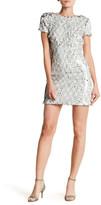 Dress the Population Ellen Sleeve Sequin Sheath Dress