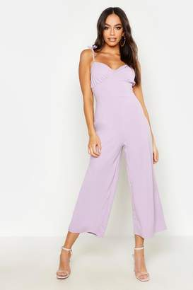 boohoo Ruched Bust Detail Cullotte Jumpsuit