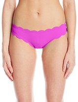 Jessica Simpson Women's Under The Sea Scalloped Edge Hipster Bikini Bottom