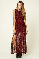 Forever 21 FOREVER 21+ M-Slit Floral Maxi Dress