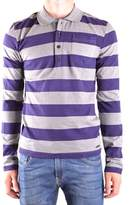 Galliano Men's Purple Cotton Polo Shirt.