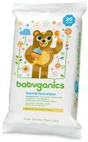 BabyGanics 30-pk. Hand & Face Wipes