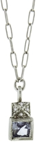 Cathy Waterman Sapphire Pyramid Top Necklace - Platinum