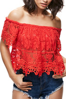 Free People Lace Off the Shoulder Tank