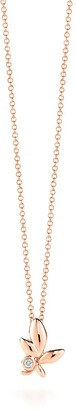 Tiffany & Co. Paloma Picasso Olive Leaf pendant in 18k rose gold with a diamond, mini