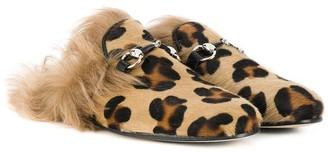 Gallucci Kids Leopard Print Slippers