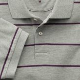 Charles Tyrwhitt Grey and purple stripe pique polo