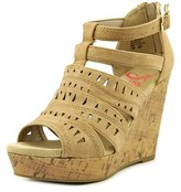 Jellypop Deedee Women Open Toe Synthetic Tan Wedge Sandal.