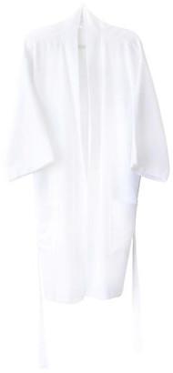 Turkish T Ottoman Short Bathrobe - White