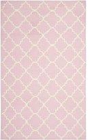 Safavieh Dhurries Pink/Ivory Area Rug Rug