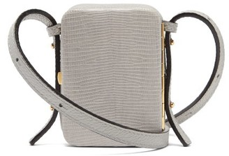Lutz Morris Norman Mini Lizard-effect Leather Cross-body Bag - Grey