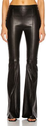 Rosetta Getty Pull On Pintuck Flare Pant in Black | FWRD