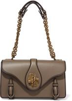 Bottega Veneta The City Knot Leather Shoulder Bag - Dark brown