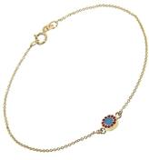 Jennifer Meyer Turquoise and Ruby Circle Inlay Bracelet