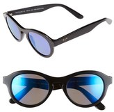 Maui Jim Women's 'Leia' 49Mm Retro Sunglasses - Blue Rootbeer/ Neutral Grey