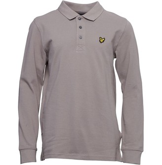 Lyle & Scott Junior Boys Classic Long Sleeve Polo Moonrock