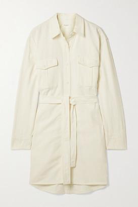 Rag & Bone Belted Denim Shirt Dress - Off-white