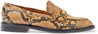 ATP ATELIER Monti Snake-effect Leather Loafers