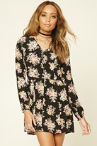 Forever 21 Button-Front Floral Swing Dress