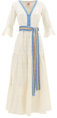 Le Sirenuse Le Sirenuse, Positano - Bella Embroidered Cotton-poplin Maxi Dress - Womens - Cream