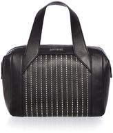 Just Cavalli Washed calf stud black small tote