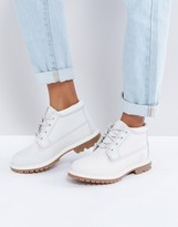 Timberland Nellie Chukka Double Gray Lace Up Flat Boots